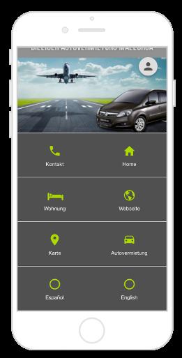 Mehrsprachige App mit Navigation Kacheln und Verwendung von zwei Submenüs