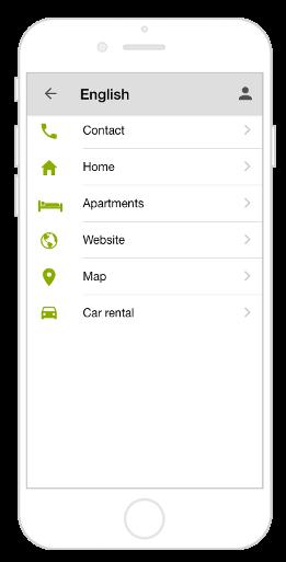 Mehrsprachige App mit Navigation Kacheln und drittem Submenü bzw. Sprache