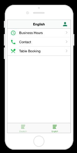 Mehrsprachige App für Navigation Tab Leiste und einem Submenü für zweite Sprache
