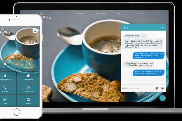 Smart Widget und Chat Widget. Die Website wird zur App.