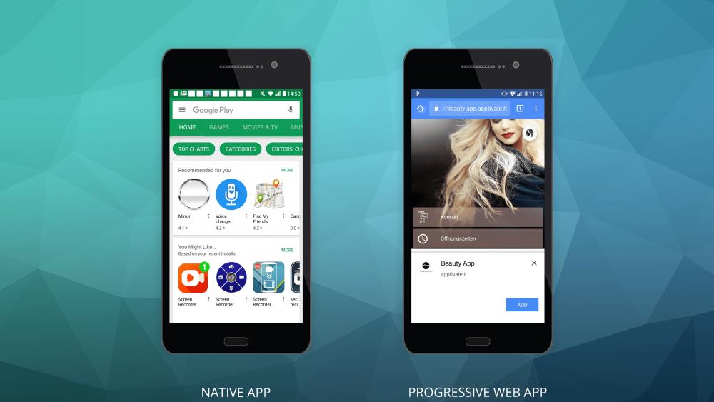 Vergleich zwischen native und Progressive Web Apps