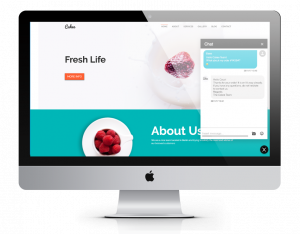 Via LiveChat you can easily get in touch with your customers directly on your website