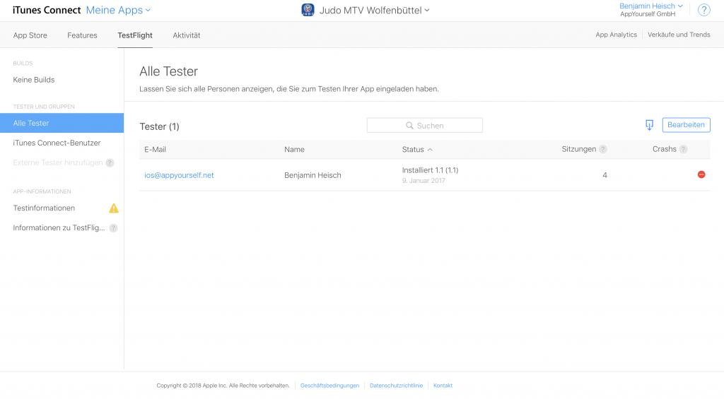 App Transfer und die Löschung unnötiger Tester