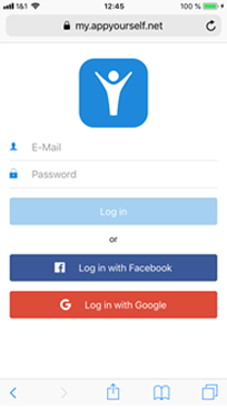 Login in das mobile Dashboard