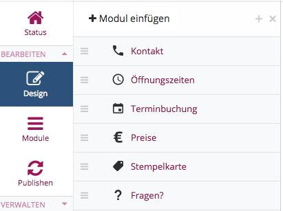 Mit wenigen Klicks sind passende Module in die App integriert