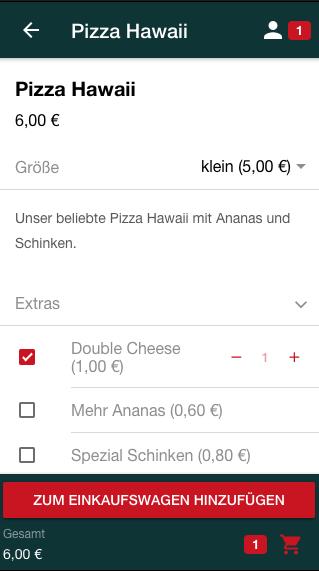 Addons im Shop der App auswählen