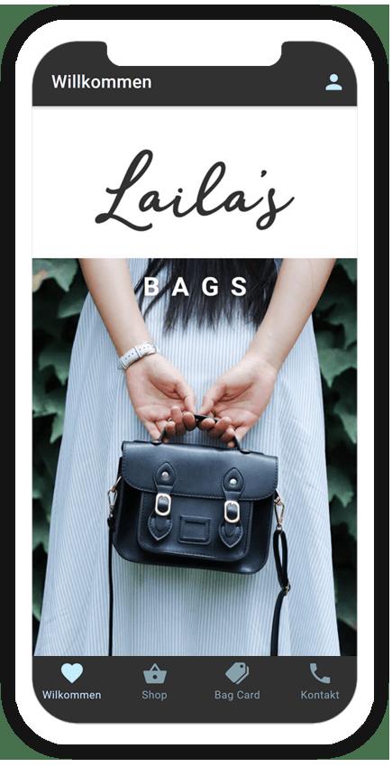Eine Shop App für Taschen