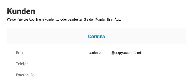 App einem Kunden zuweisen