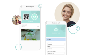 The digital customer card as part of the app